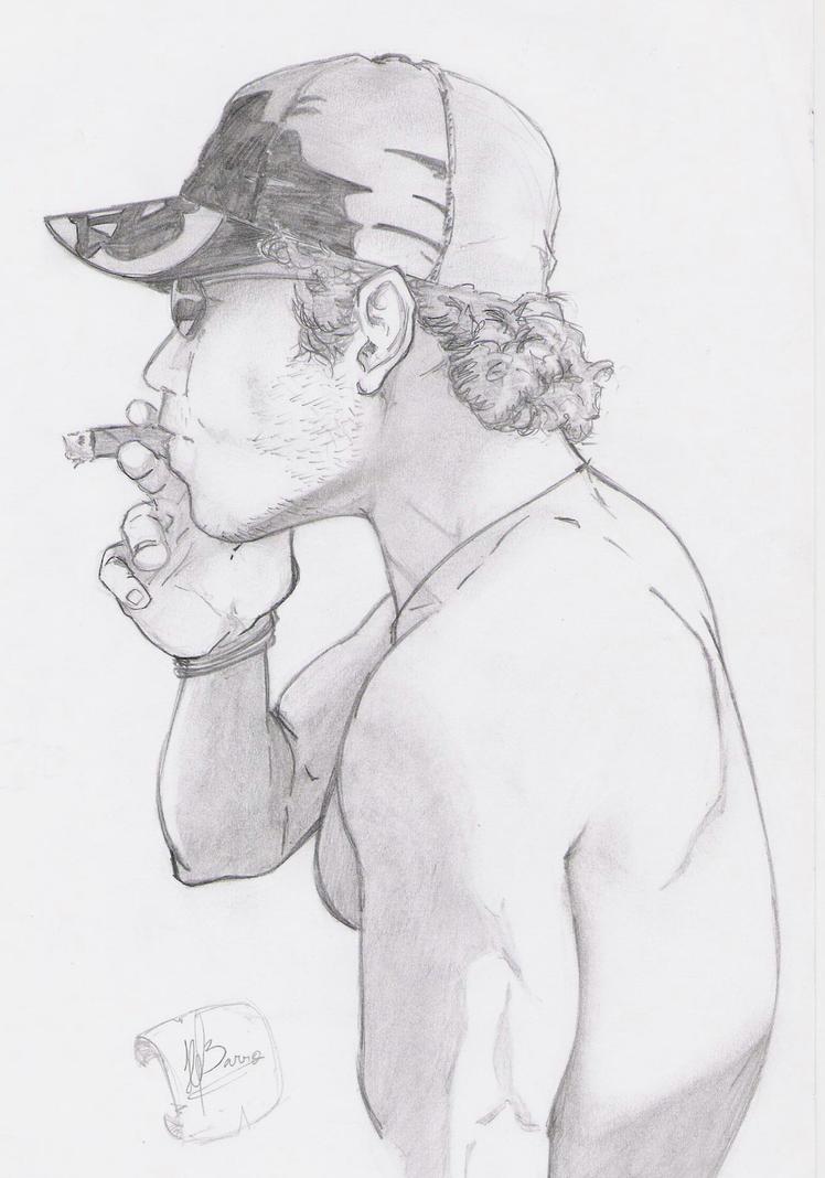 Self-portrait (early sketch) by hugofb87