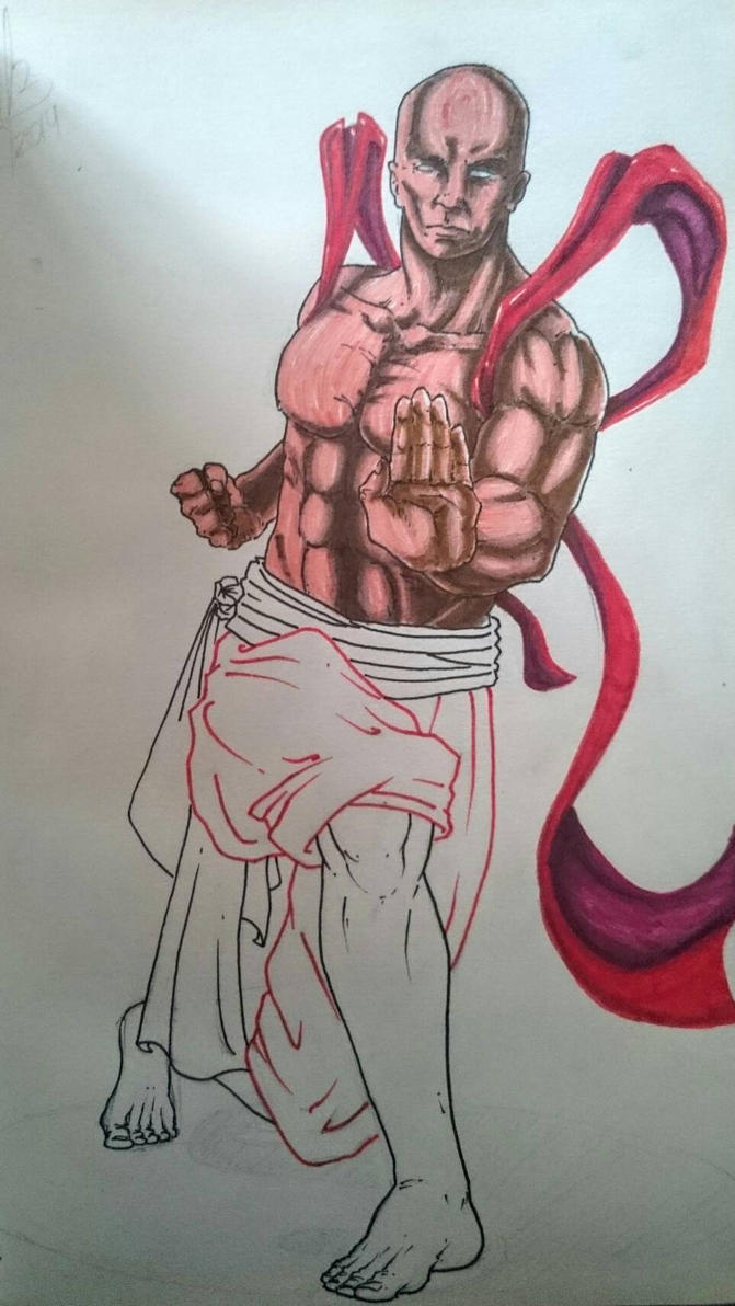 Another monk sketch (hydrographic pen) by hugofb87