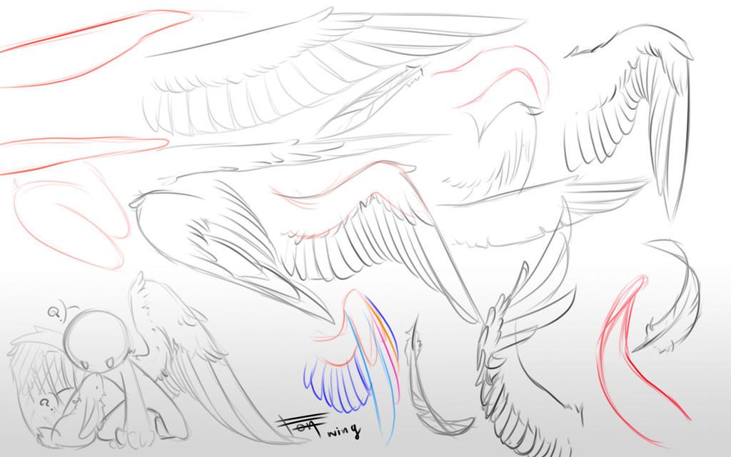 Drawing Wing by kiruru2592