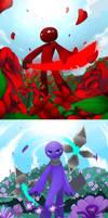 Valentine The flower color by kiruru2592