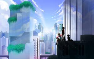 City the warm light by kiruru2592