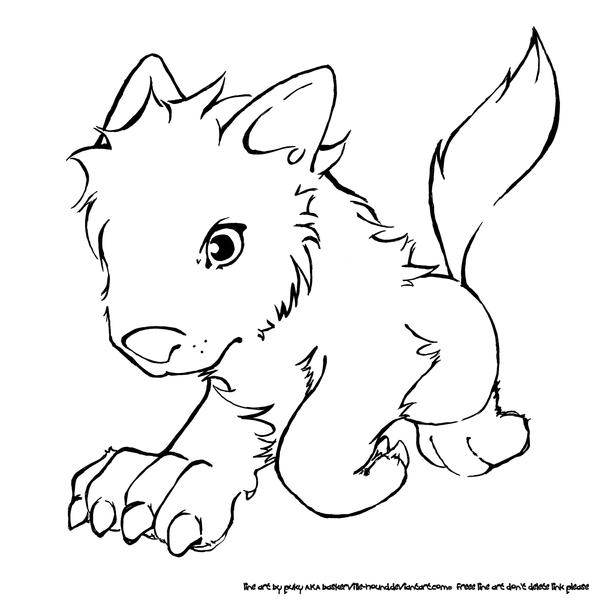 Chibi Wolf Coloring Coloring Pages Chibi Wolf Coloring Pages
