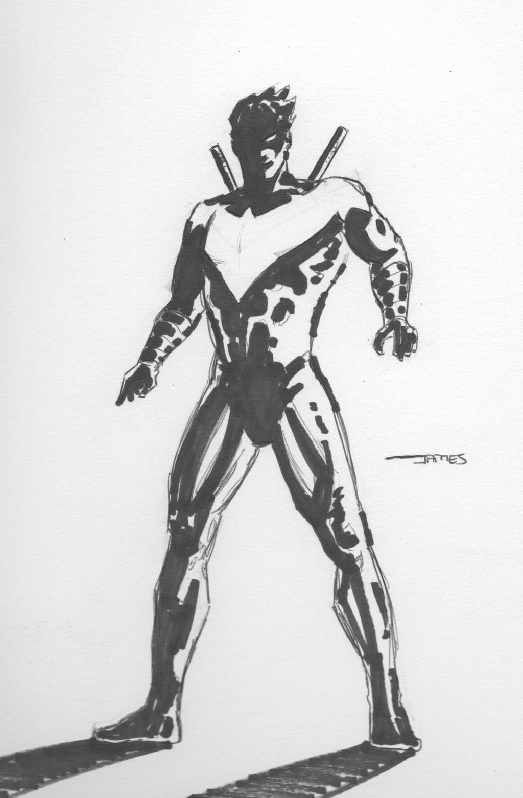 Nightwing (New 52) Sketch by jstewart93