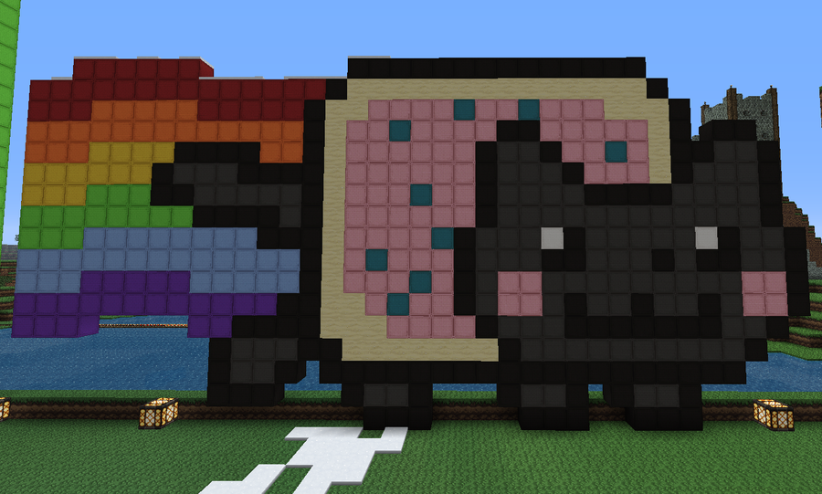 Minecraft Papercraft Nyan Cat Minecraft Pixel Art Nyan Cat