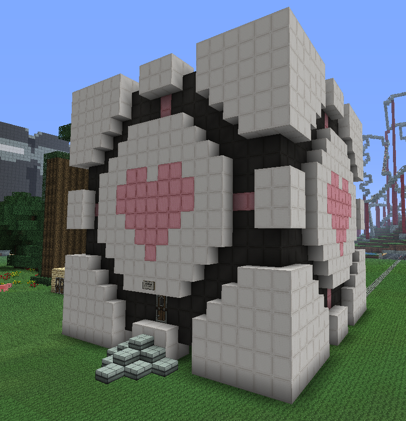 Minecraft Companion Cube House By Kawaii Panda San On Deviantart