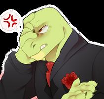 Angry lizard papi by stariitea