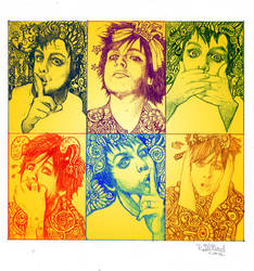 Billie Joe pop art style by dragon-flies