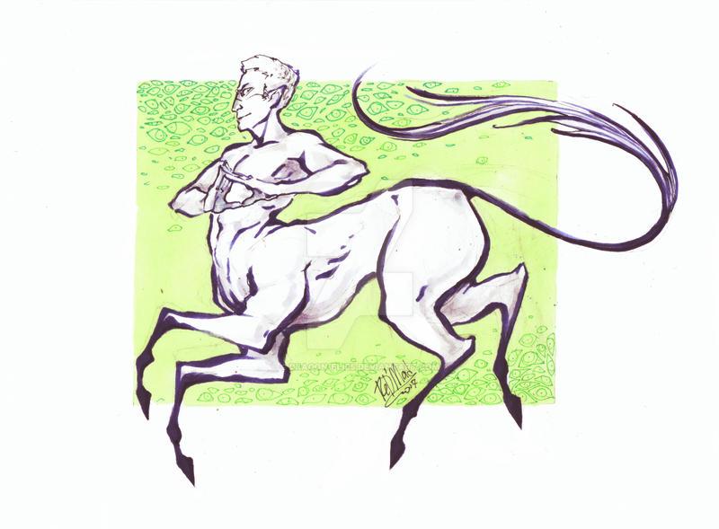 centaur by dragon-flies