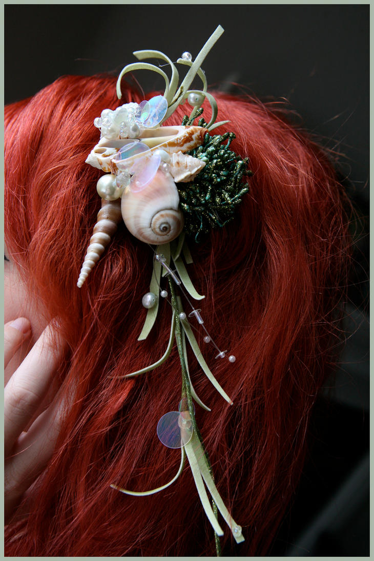Seafoam Seashell Hairpiece by TheRealLittleMermaid