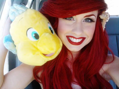 Buddies...Ariel and Flounder