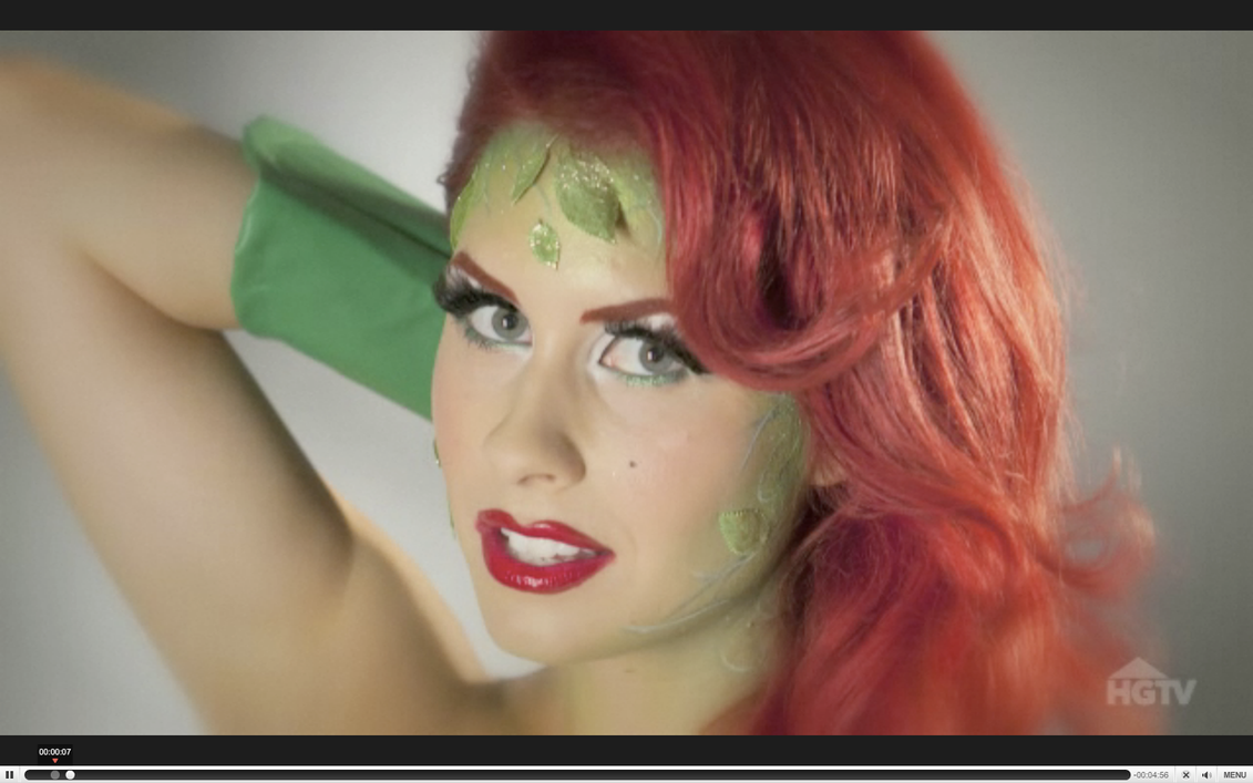Poison Ivy Makeup by TheRealLittleMermaid