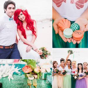 Hipster Mermaid (faux) Wedding on POPSUGAR