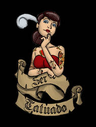 Tattooed Pin Up by monstah