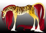 tiger tribal horse by Tiyger