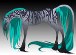 Silver tribal stallion by Tiyger