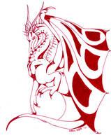 red dragon by Tiyger