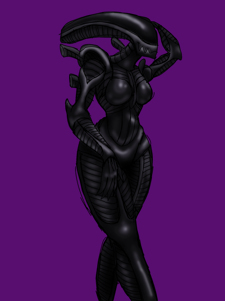 Xenomorph Babe by NorthstoneCreator on DeviantArt