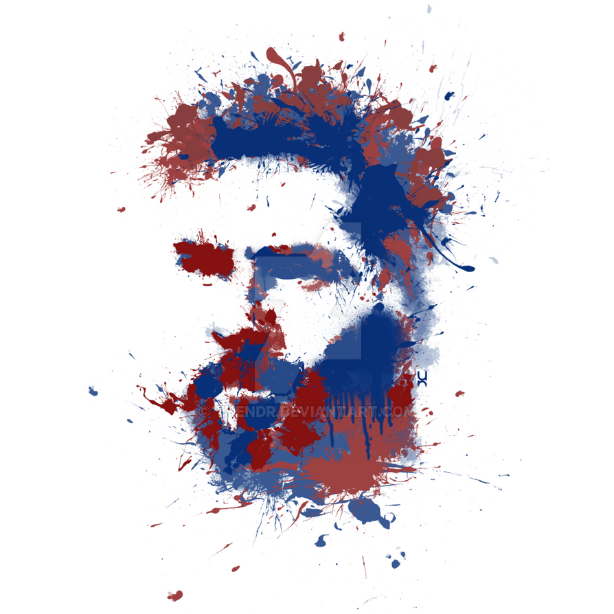 Lionel Messi Splatter by TheNDR
