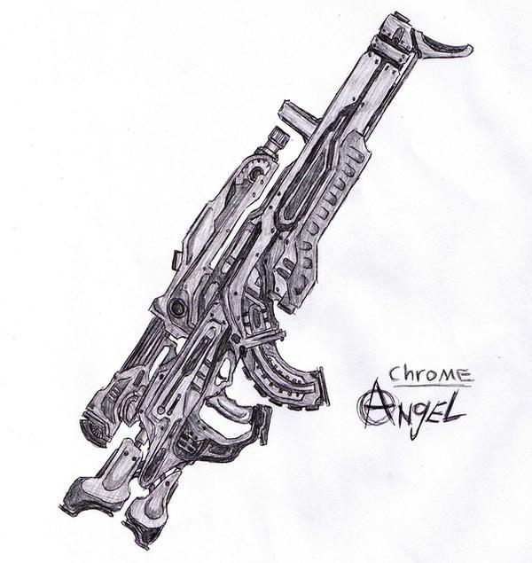 chrome angel sketch by malmida