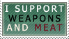 weapons+meat by malmida