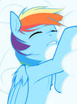 Sleeping Rainbow Dash