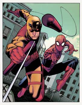 Daredevil + Spider-Man by Paulo Siqueira 21/06/18