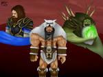 Warcraft Fanart- Durotan, Lothar and Gul'dan by Michelle-MTS