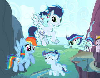 MLP [Next Gen] Come on, you can fly!! by VelveagicSentryYT