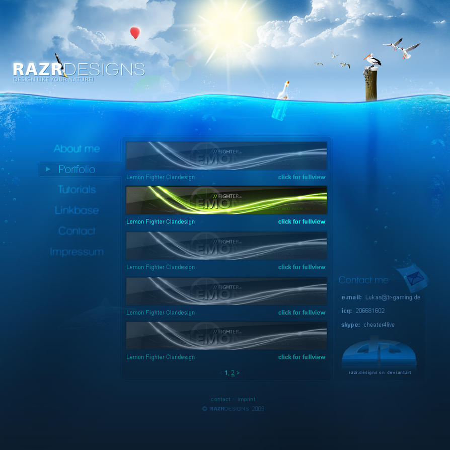 Under Water Portfolio by razr-designs