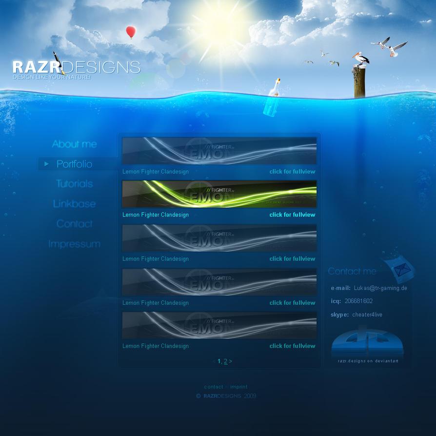 Under Water Portfolio by razr-designs