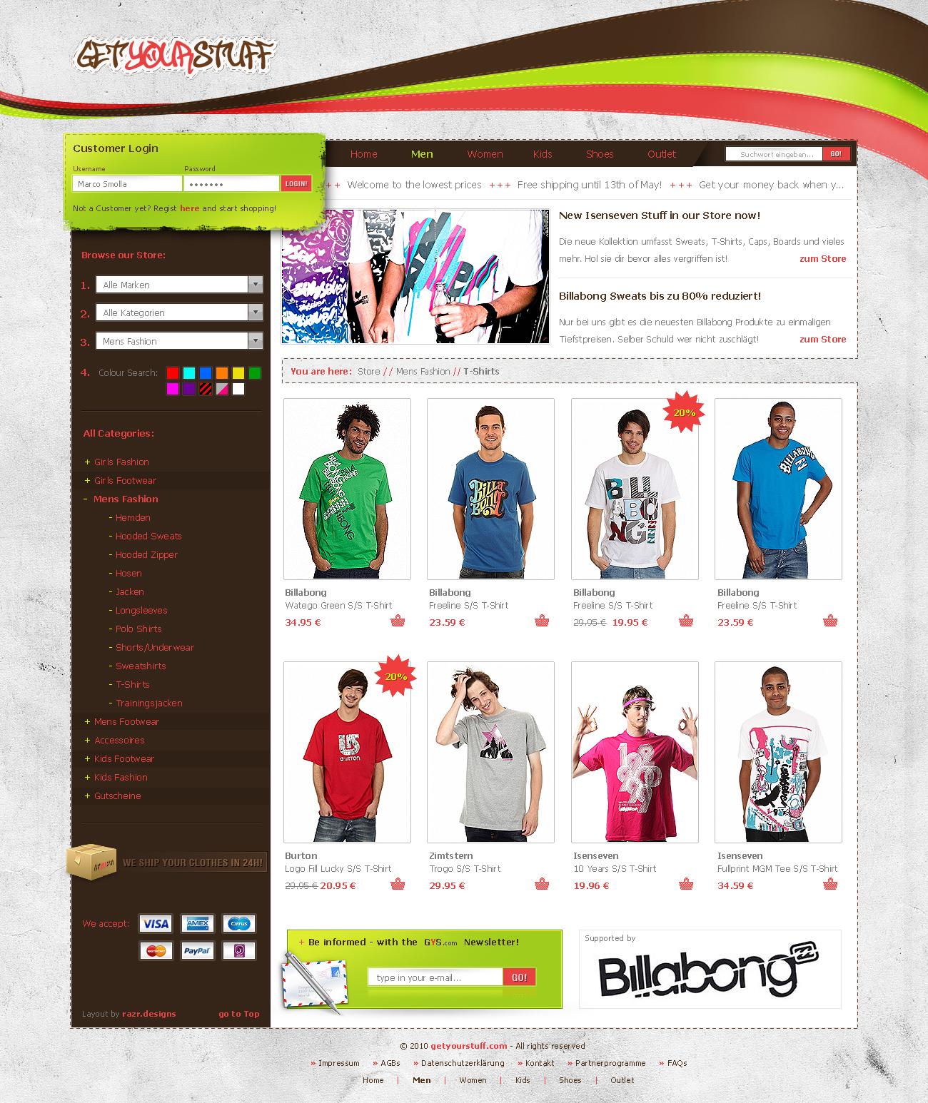 getyourstuff Shop Layout by razr-designs