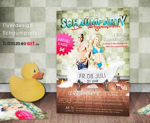 Schaumparty - Flyerdesign by razr-designs