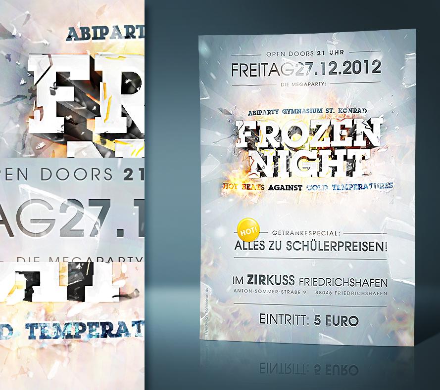 Frozen Night - Flyerdesign by razr-designs