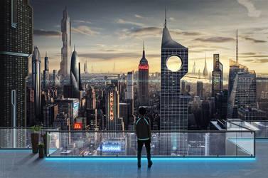 Downtown Manhattan - 2087 by razr-designs