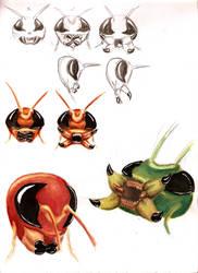 Demon Roach Studies 1 by Jujusaurus