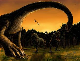 A Prehistoric Sunset by Jujusaurus