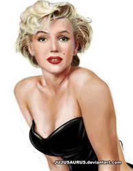 Marilyn Monroe Portrait by Jujusaurus