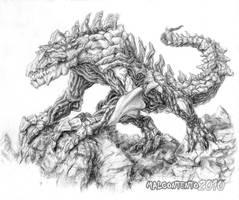 Mighty Rocky Reptillian by Jujusaurus