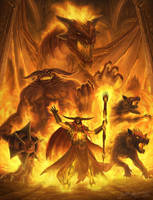 Fire Sorcerer Enraged by Jujusaurus