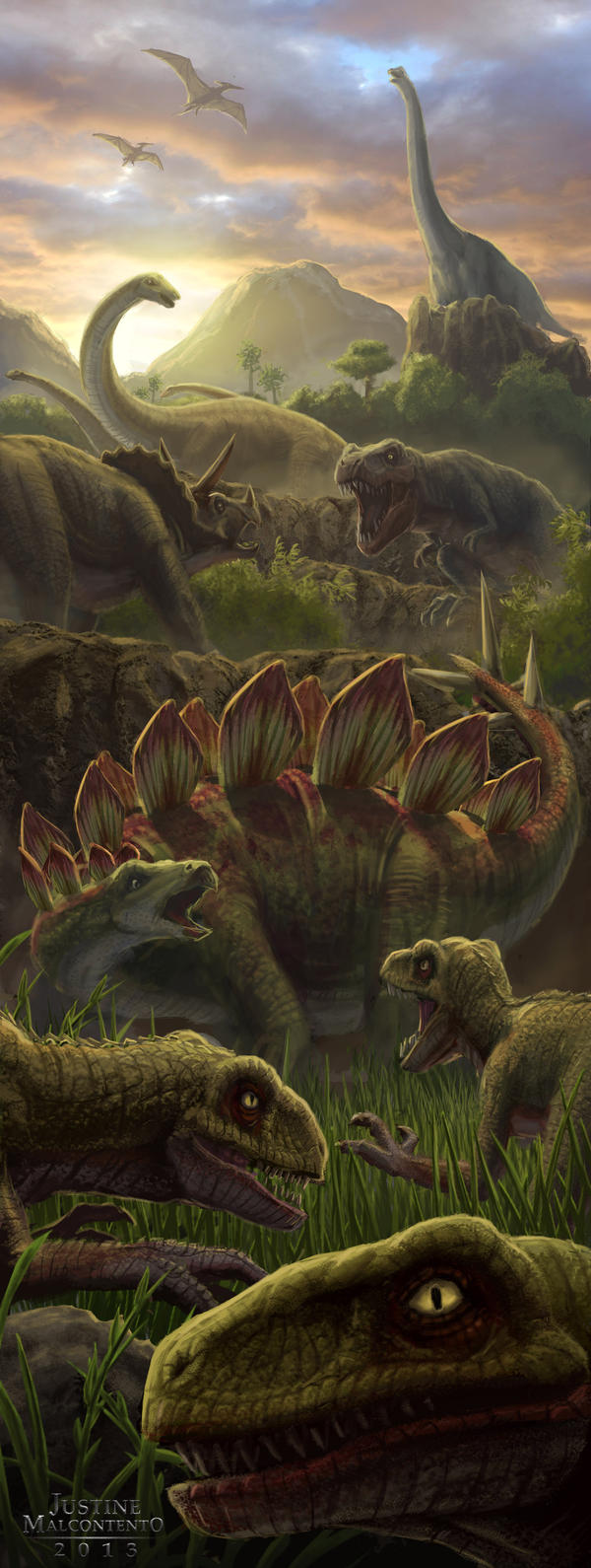 Peak of the Dinosaurs by Jujusaurus