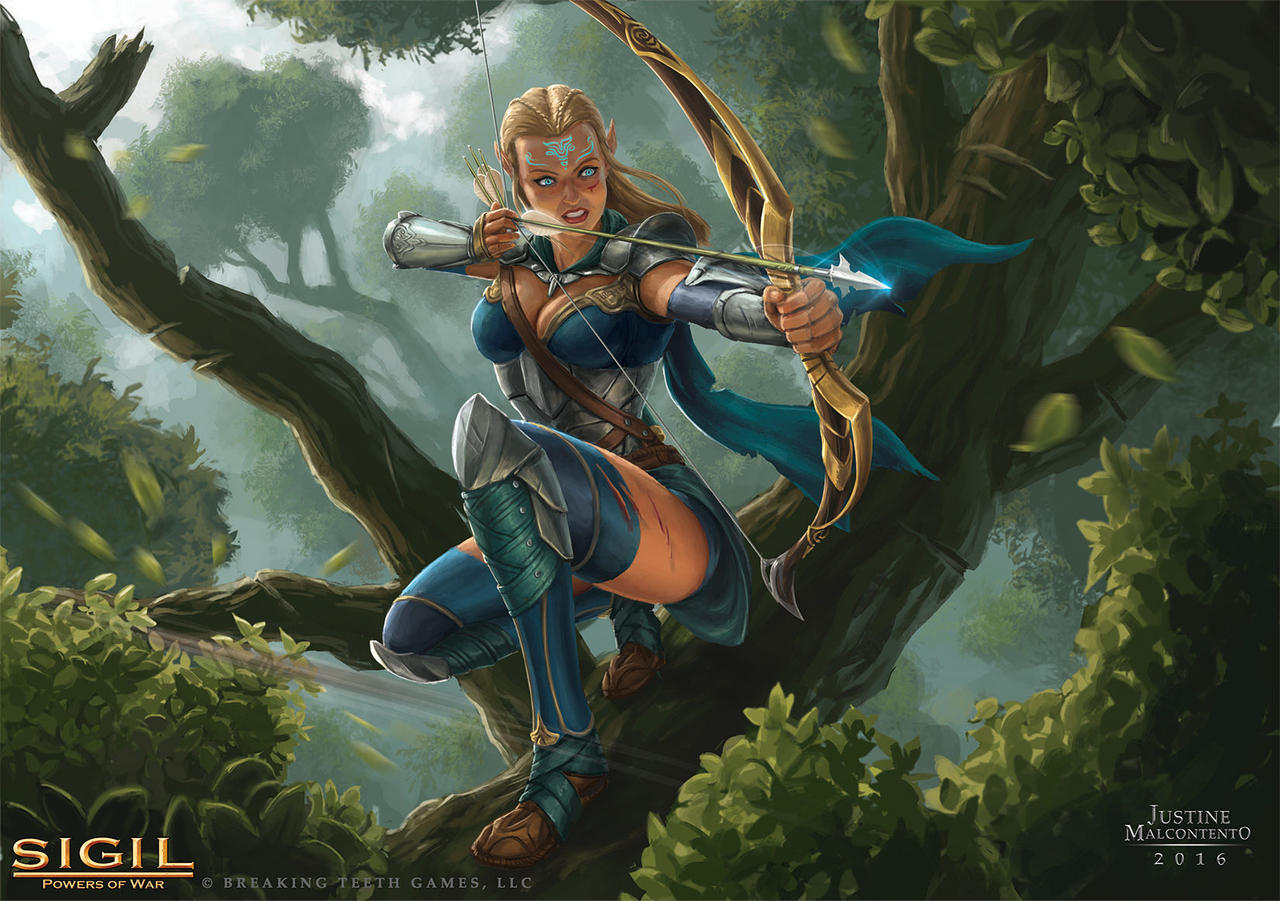 Archer Warrior Elves Fantasy Art Wallpapers Hd: Elite Elven Archer By Jujusaurus On