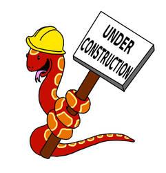 Corn Snake Under Construction Sign