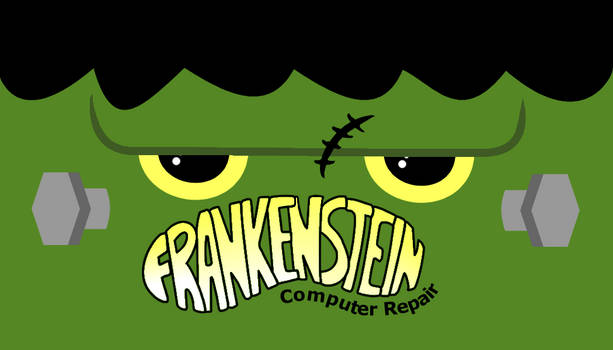 Frankenstein Computer Repair Business Card