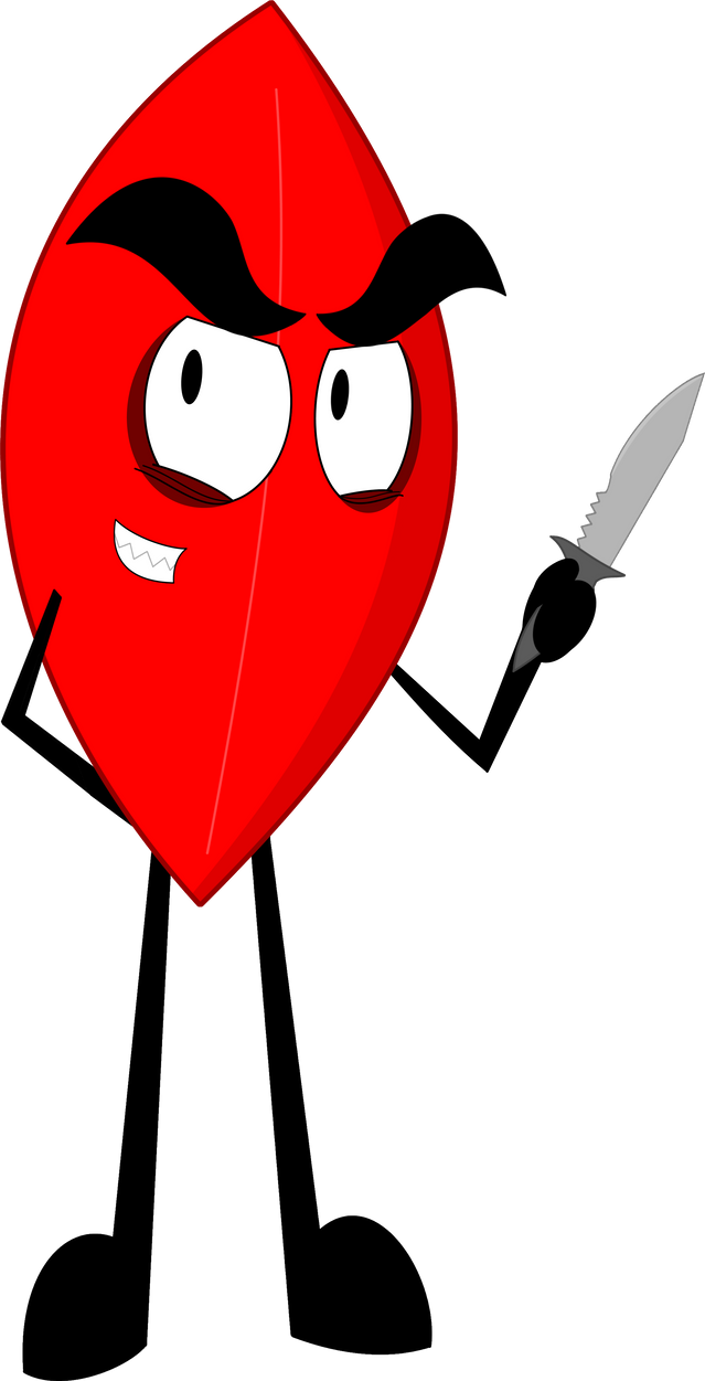 BFB Collab - Evil Leafy by CadenFeather on DeviantArt