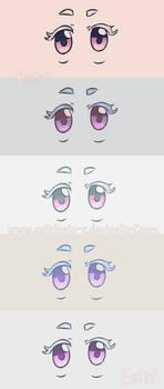 Ojos coloridos by Estefania-C