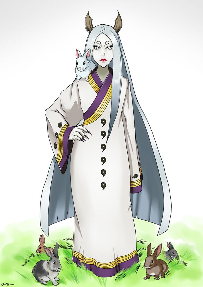 Commission: Kaguya and Rabbits by Gintara