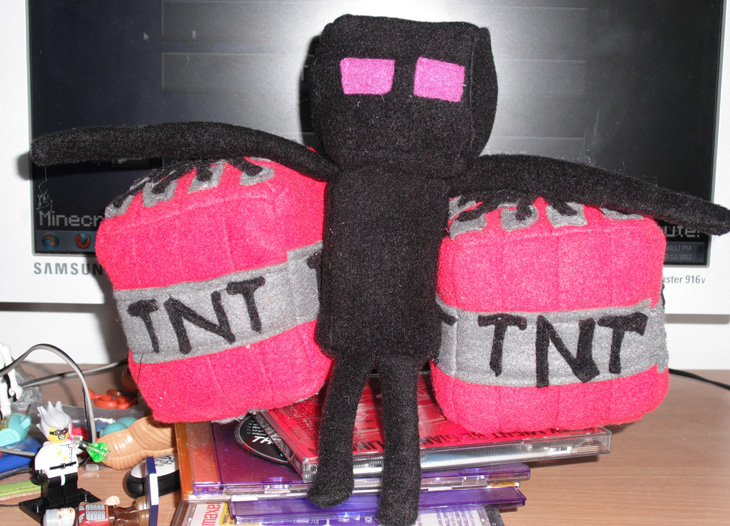 Minecraft plushies run enderman tnt by ablesistersfancrafts on