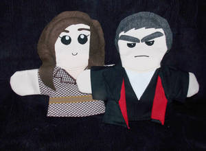 Twelfth Doctor and Clara Puppets