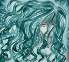 Blue girl by GirlofSmokeandFire