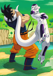 Goku vs freezer by GODTAIL